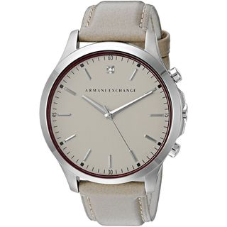 Armani Exchange Men's AX2183 'Smart' Crystal Taupe Leather Watch
