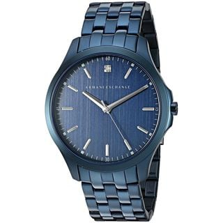 Armani Exchange Men's AX2184 'Smart' Crystal Blue Stainless Steel Watch