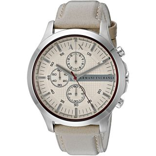 Armani Exchange Men's AX2185 'Smart' Chronograph Taupe Leather Watch