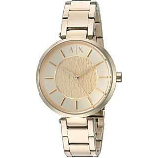 Armani Exchange Women's AX5316 'Street' Gold-tone Stainless Steel Watch