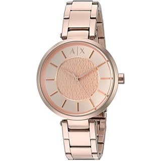 Armani Exchange Women's AX5317 'Street' Rose-Tone Stainless Steel Watch