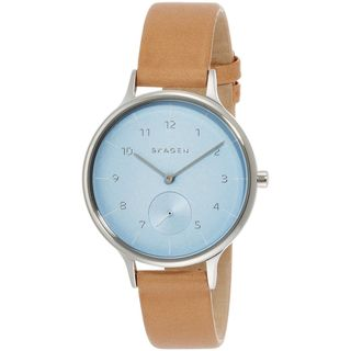 Skagen Women's SKW2433 'Anita Sub-Eye' Brown Leather Watch