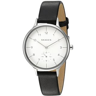 Skagen Women's SKW2415 'Anita Sub-Eye' Black Leather Watch
