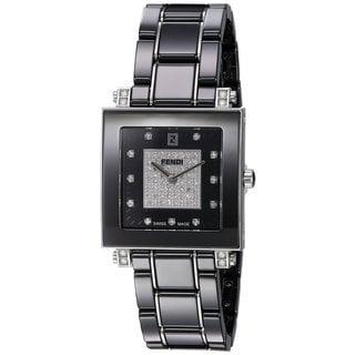 fendi watches overstock com the best prices on designer mens fendi women s f625110dpdc ceramic black diamond dial black ceramic swiss quartz watch