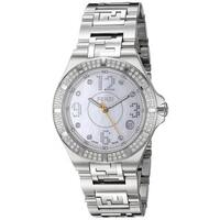 Fendi Women's F467340DDC 'High Speed' Mother of Pearl Diamond Dial Stainless Steel Swiss Quartz Watch