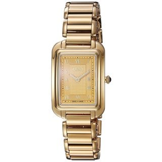 Fendi Women's F701435000 'Classico Rectangle' Goldtone Dial Goldtone Stainless Steel Small Swiss Quartz Watch