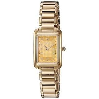 Fendi Women's F701425000 'Classico Rectangle' Goldtone Dial Goldtone Stainless Steel X-Small Swiss Quartz Watch