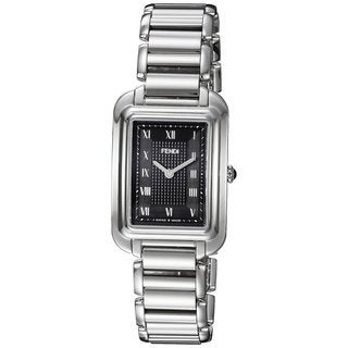 Fendi Women's F701031000 'Classico Rectangle' Black Dial Stainless Steel Small Swiss Quartz Watch