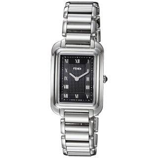 Fendi Women's F701031000 'Classico Rectangle' Black Dial Stainless Steel Small Swiss Quartz Watch