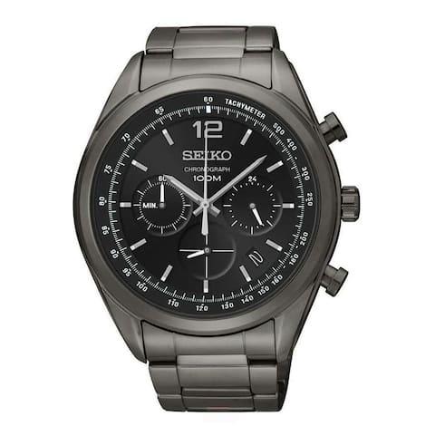 Seiko Men's Sports Black Watch