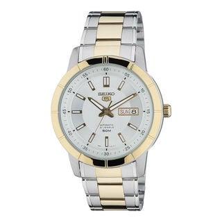 Seiko Men's SNKN58K1 5 White Watch