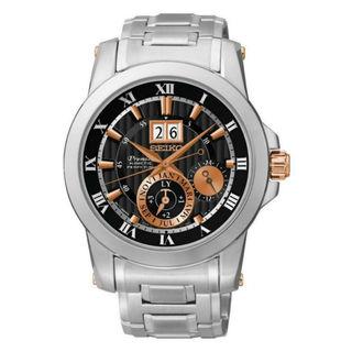 Seiko Men's SNP098P1 Premier Black Watch