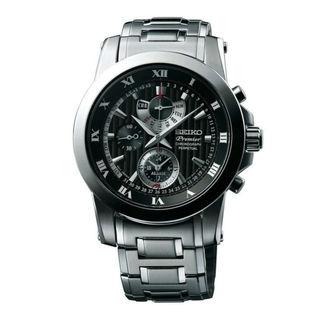 Seiko Men's SPC161P1 Premier Black Watch