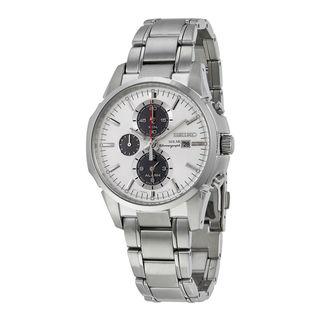 Seiko Men's SSC083P1 Solar Chronograph White Watch