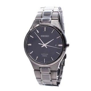 Seiko Men's SGEH35P1 Dress Black Watch