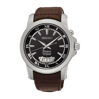 Seiko Men's SNQ149P1 Premier Black Watch