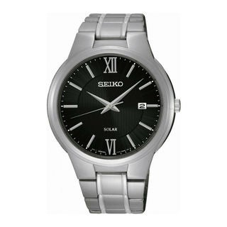 Seiko Men's SNE387P1 Solar Black Watch