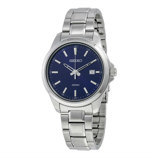 f343e9f63 Shop Seiko Men's Neo Classic Blue Watch - Free Shipping Today - Overstock -  11964894