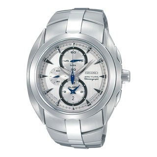 Seiko Men's SNAC15P1 Arctura Silver Watch