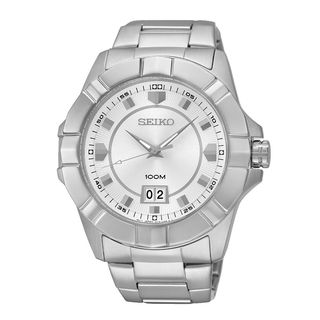 Seiko Men's SUR127P1 Lord Silver Watch