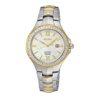 Seiko Women's SUT230P1 Solar White Watch