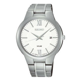 Seiko Men's SNE385P1 Solar White Watch