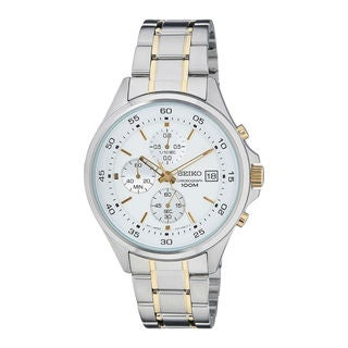 Seiko Men's SKS479P1 Chronograph White Watch