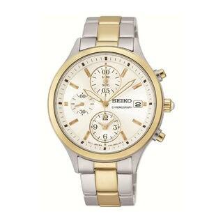 Seiko Men's SNDX08P1 Chronograph White Watch