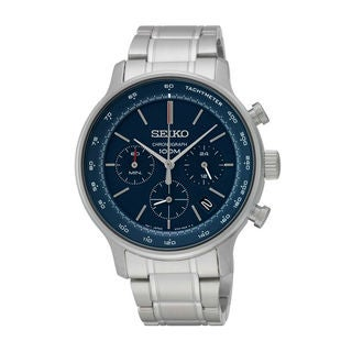 Seiko Men's SSB163P1 Dress Blue Watch