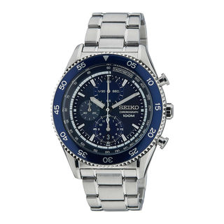 Seiko Men's SNDG55P1 Chronograph Blue Watch