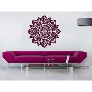 Lotus Flower Home Decor Wall Art Sticker Decal Red