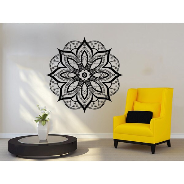 Mandala Hamsa Wall Art Sticker Decal