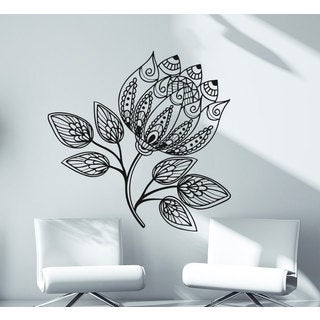 Mandala Namaste Lotus Flower Indian Wall Art Sticker Decal