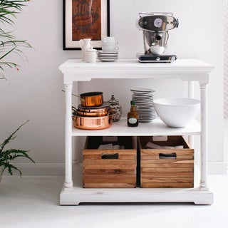 Nova Solo Small Kitchen Table with Teak Boxes