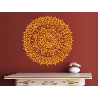 Ornament Moroccan Pattern Namaste Wall Art Sticker Decal Orange