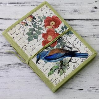 Handmade Paper 'Kingfisher Memoirs' Journal (India)