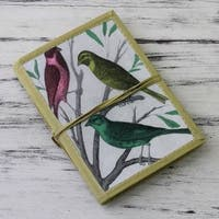 Handmade Paper 'Sparrows' Journal (India)