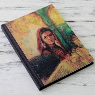 Handmade Paper 'Mughal Princess' Journal (India)
