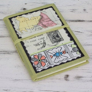 Handmade Paper 'Journey to the Past' Journal (India)