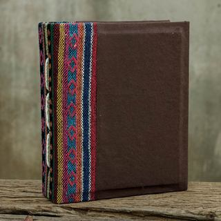 Handcrafted Saa Paper 'Brown Dragon' Photo Album (Thailand)