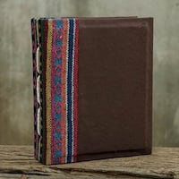 Handmade Saa Paper 'Brown Dragon' Photo Album (Thailand)