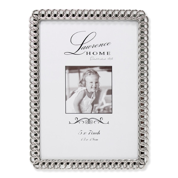 Versil Eternity Rings Silver Metal 5-inch x 7-inch Picture Frame