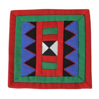 Set of 6 Lahu Cotton 'Festivities' Coasters (Thailand)