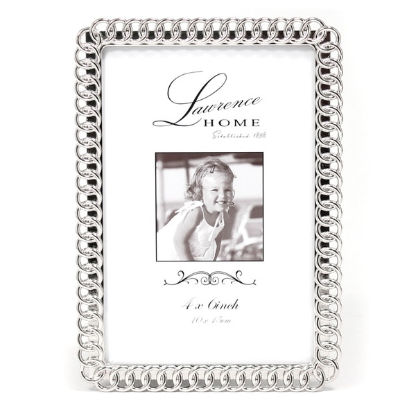 Versil Eternity Rings Silver Metal 4-inch x 6-inch Picture Frame