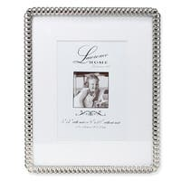 Versil Silver Metal 8-inch x 10-inch/5-inch x 7-inch Eternity Rings Metal Picture Frame