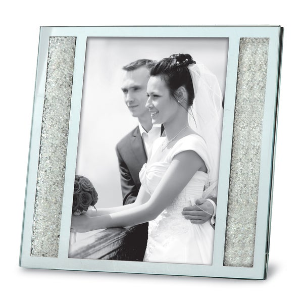 Versil Crystalline Silver Metal 4-inch x 6-inch Photo Frame