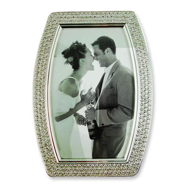 Versil Silver-tone Crystal 4-inch x 6-inch Photo Frame