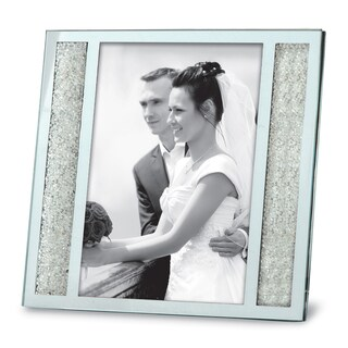 Versil Silvertone Crystalline 5-inch x 7-inch Photo Frame