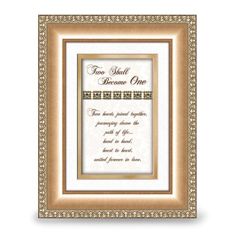 Versil Two Become One Gold-tone Framed Sentiment