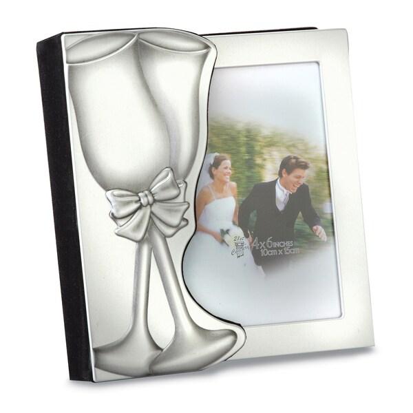 Versil Toasting Glass Aluminum 4-inch x 6-inch Wedding Album